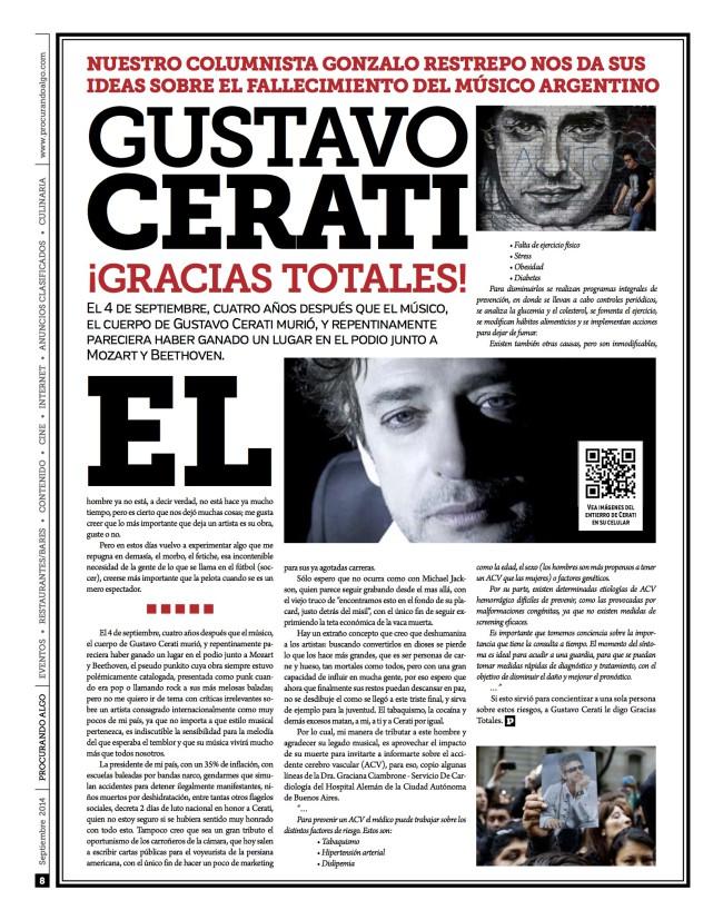 La muerte de Cerati y algunas ideas