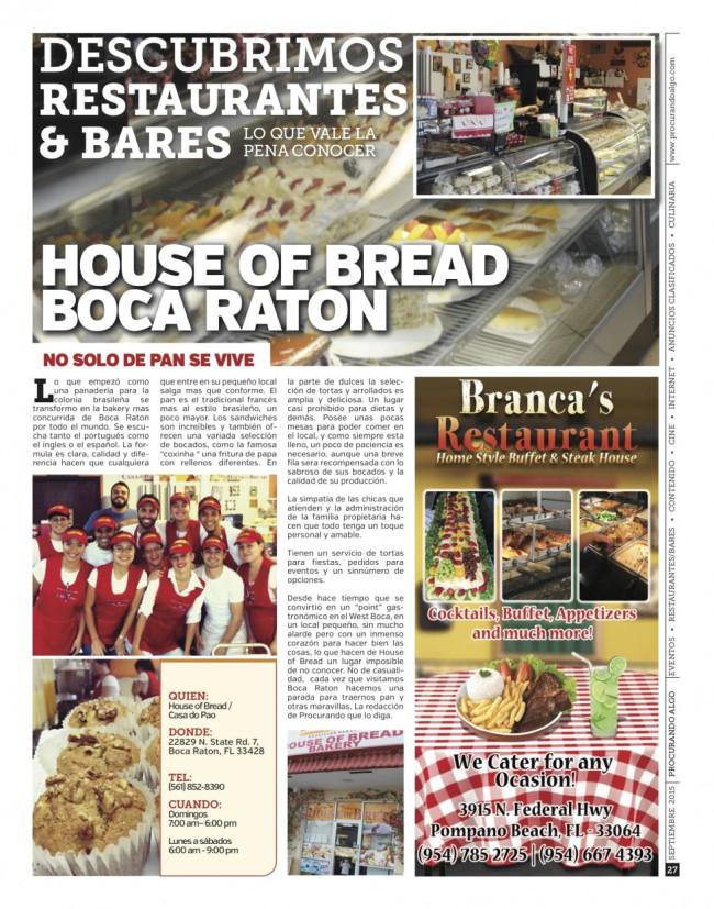 House of Bread – Boca Raton